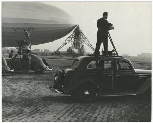Hydrogen-filled Hindenburg 1936 or 1937.