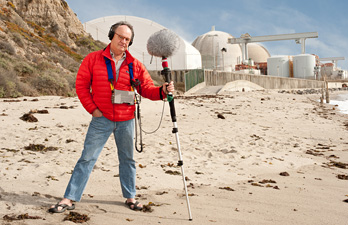 Alex Chadwick at the nuclear generation station in San Onofre, CA
