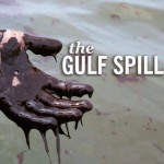 The Gulf Spill, hand drenched in oil