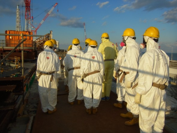A team of officials from the U.S. Nuclear Regulatory Commission visit the destroyed Fukushima Daiichi in Japan December. (Photograph courtesy NRC/Flickr)