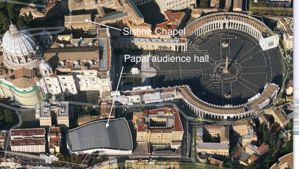 Vatican Solar Panels_Google Map
